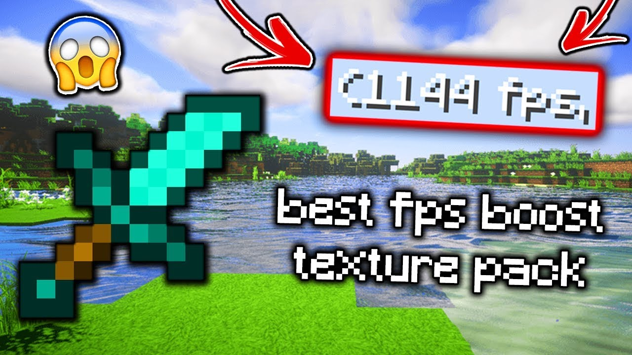 Best Minecraft Fps Boost Texture Pack Resource Pack No Lag High Fps Booster 1 15 1 14 1 8 1 7 Youtube