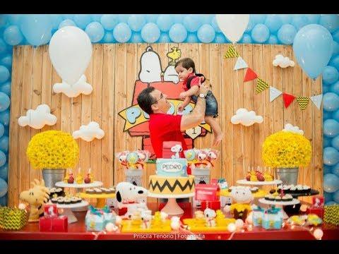 Fiesta de snoopy y sus amigos 2017 mesa de dulces for Decoracion de mesas dulces infantiles