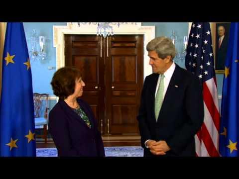 Secretary Kerry Delivers Remarks With European Union High Representative Ashton