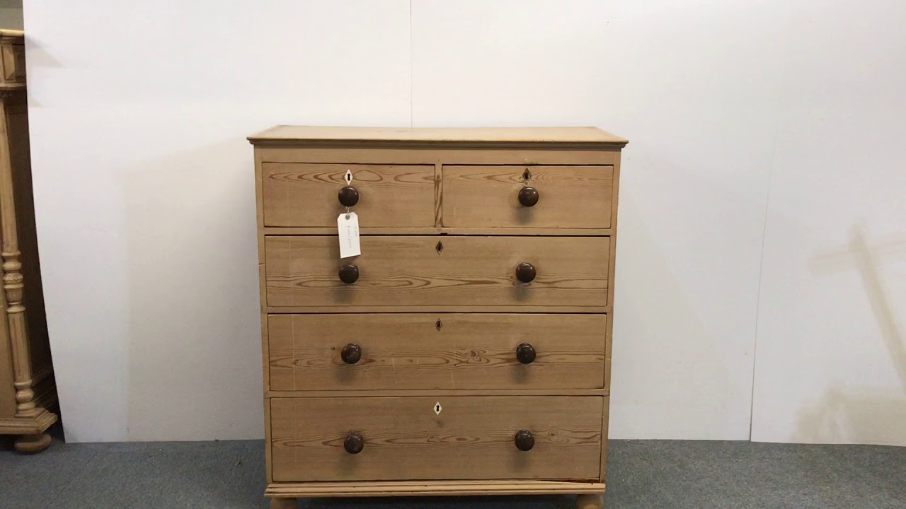 Large Pine Chest Of Drawers 1920s 1