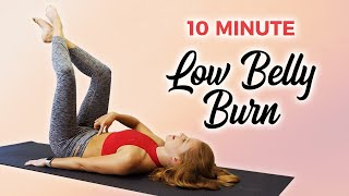 10 Min Lower Belly Burn with Banks | How to Target Low Abs, Pilates Workout, Belly Fat, Flat Tummy