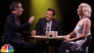 Jimmy, Jennifer Lawrence and John Oliver play a game where they take turns confessing to a random fact, then interrogate each other to determine who was ...