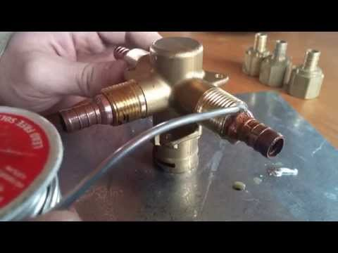 how to solder connections on a showertub valve body moen positemp youtube