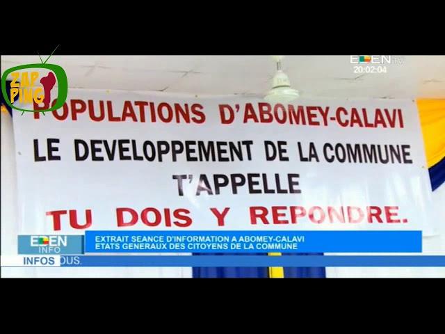 Séance d'Information à Abomey Calavi.
