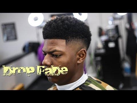 HAIRCUT TUTORIAL: DROP FADE | CURL SPONGE | CRISPY LINE UP