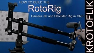 How To Build The Rotorig - Camera Jib And Shoulder Rig In One!