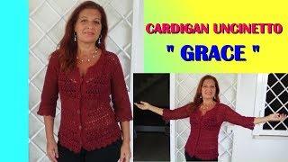 Cardigan Uncinetto