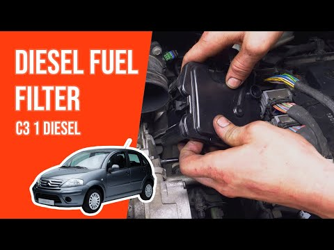 TUTORIAL DIESEL CITROËN C3  How to change the fuel filter