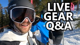 Live Snowboard GEAR Q&A with TJ, Andreas & Chris