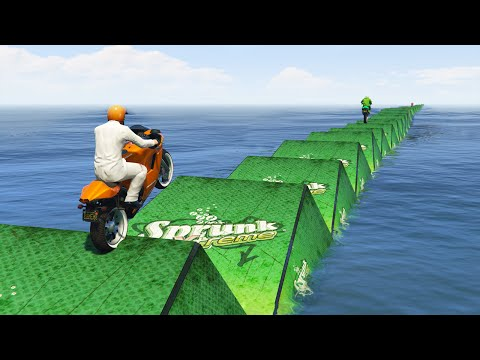 IMPOSSIBLE WATER PARKOUR RACE! (GTA 5 Funny Moments)
