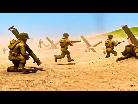 Epic New D-Day Invasion on OMAHA BEACH! Ravenfield Meets Total Tank Simulator in Brass Brigade