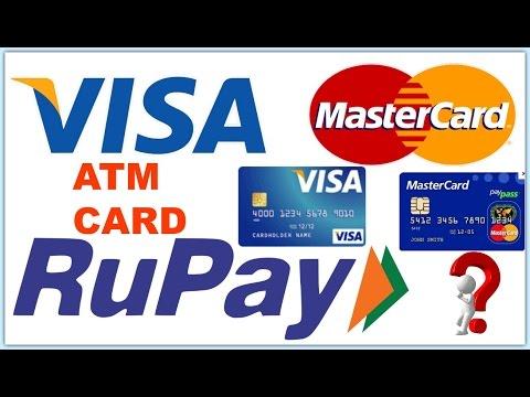 What is Rupay Card   Visa Card and MasterCard   Explain