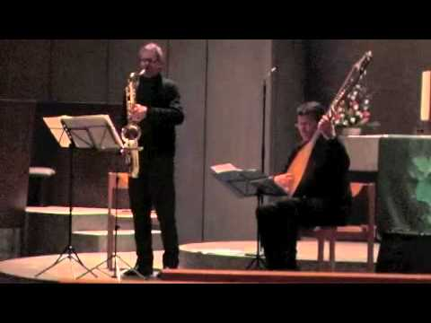 Johann Sebastian Bach- Solo for Violin: impro for sax and theorbo