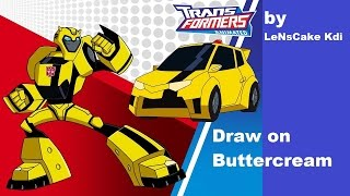 Draw Transformers on Buttercream by LeNsCake Kdi