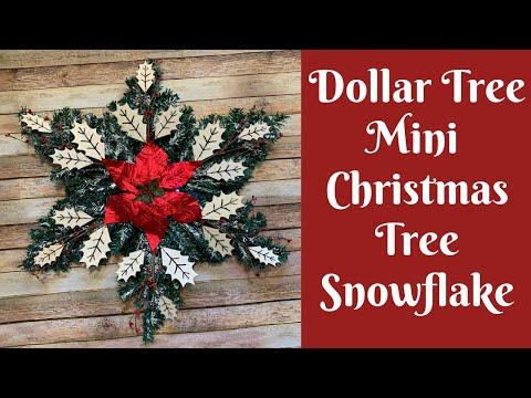 Dollar Tree Christmas Crafts: Dollar Tree Mini Christmas Tree Snowflake