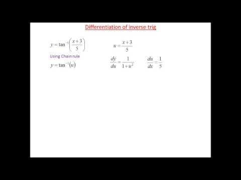 Differentiation of arctan 1 example