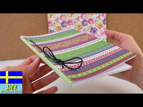 Hur man gör en anteckningsbok & dagbok själv | binda en bok själv