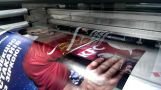 Широкоформатная печать баннера на Оракале / ORACAL(Широкоформатная печать баннера на пленке Оракал / ORACAL для сети фаст-фудов KFC. Заказывайте высококачественну..., 2014-07-10T10:02:45.000Z)