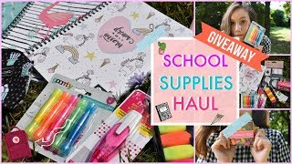 Back to school 2018: School supplies haul+GIVEAWAY!| Yana Smile