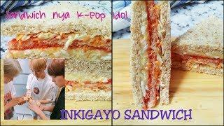 how to make inkigayo sandwich / korean streetfood / inkigayo studio / favorit para k-pop