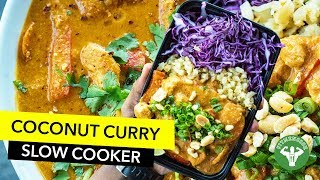 Meal Prep - Coconut Curry Chicken Slow Cooker Recipe