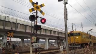 鉄道施設【第一種踏切】山陽本線・上道駅構内・崩橋踏切