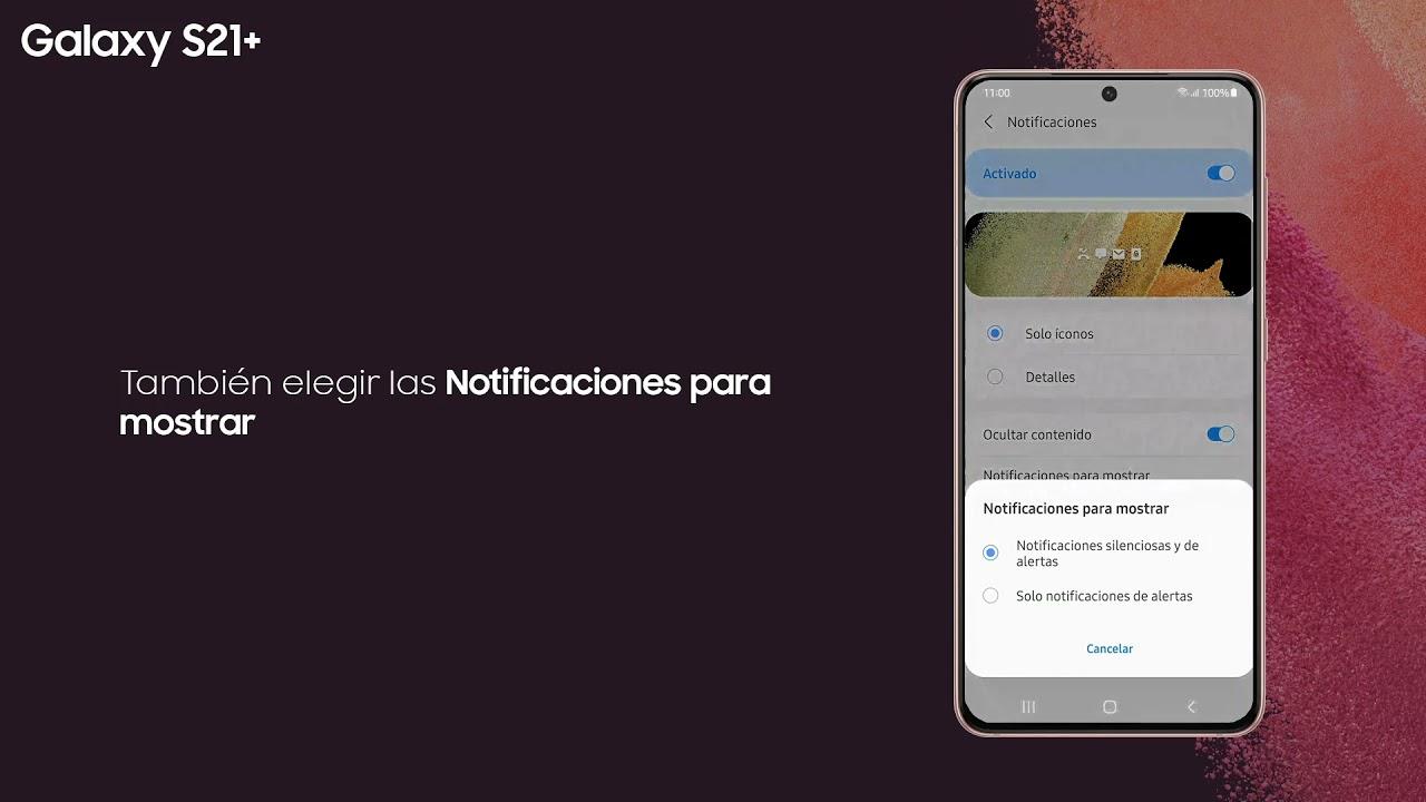 Samsung   Producto   Galaxy S21+   ¿Cómo ver las notificaciones en la pantalla de bloqueo?