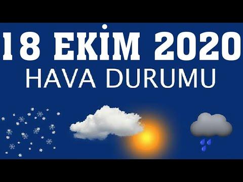 18 Ekim 2020 Hava Durumu (Tüm İllerin Hava Durumu)