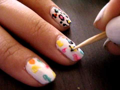 Colorful Cheetah Nail Art Tutorial! - Colorful Cheetah Nail Art Tutorial! - YouTube