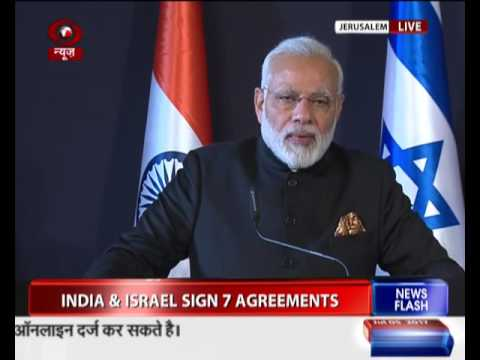 PM Modi at Joint Press Statement with Israel PM Netanyahu in Jerusalem