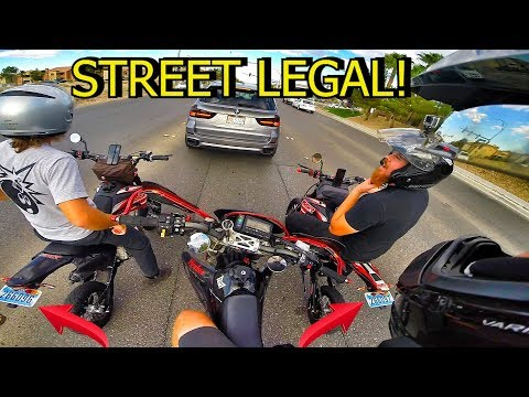 2 STREET LEGAL SSR PIT BIKES!!