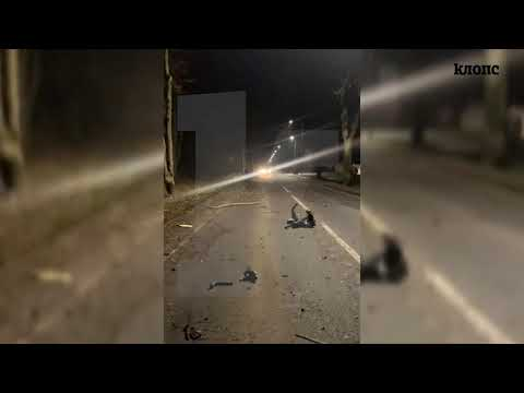 Первые минуты после смертельного ДТП на Мамоновском шоссе