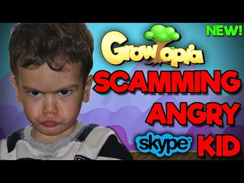 Growtopia | SCAMMING ANGRY KID [Gone Wrong] [SKYPE]