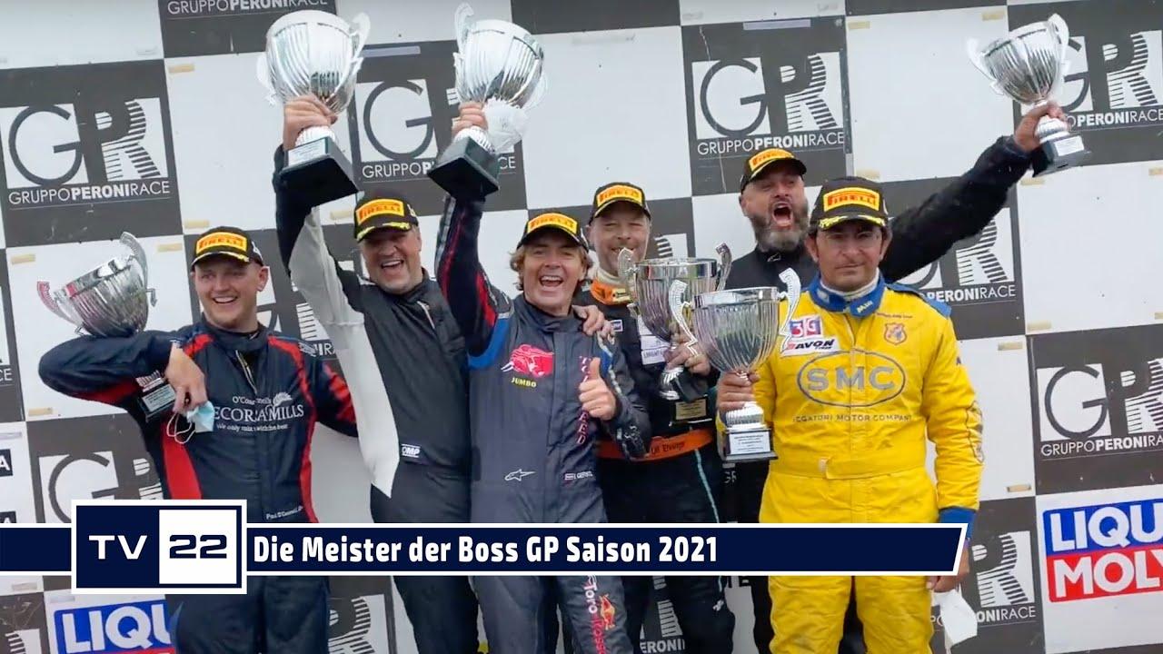 Die Meister des GlobeAir Grande Finale der Boss GP im Königlichen Park in Monza 2021