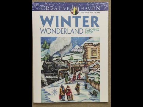 Creative Haven Winter Wonderland Coloring Book Flip Through