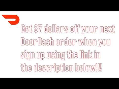 DoorDash Promo Code | Get $7 Off | July 2019