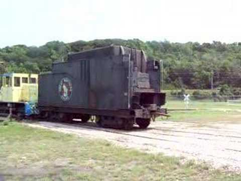 Steam engine tender on turntable