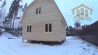 """Видеообзор дома из бруса 6х6 метров от компании """"Три Строителя"""""""