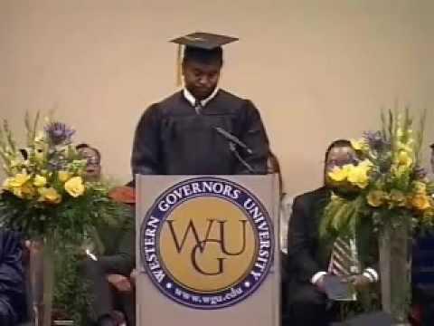 WGU February 2008 Graduation Wilfrid Ky Online IT Degree