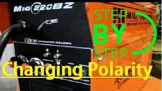 changing the polarity on your rossi mig welder for flux cored