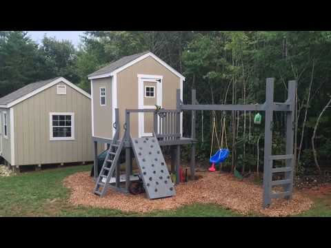 PLAY HOUSE / CLUB HOUSE / SWING SET / Time lapse build.
