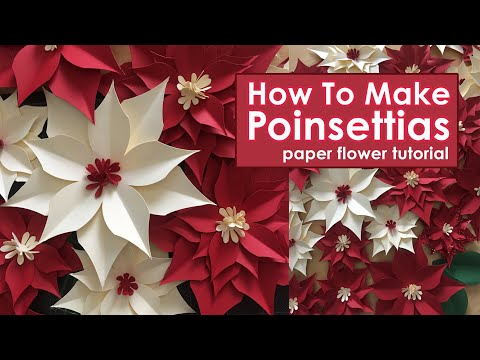 DIY Paper Poinsettias | How to Make Poinsettias | Christmas Decorations | Easy Paper Flower Tutorial