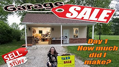 Garage sale day 1 - How much did I make? - What did I Sell? - Is Selling Local Worth the Time?