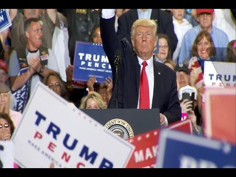 President Donald Trump 100 days rally full speech in Harrisburg, Pennsylvania 2017