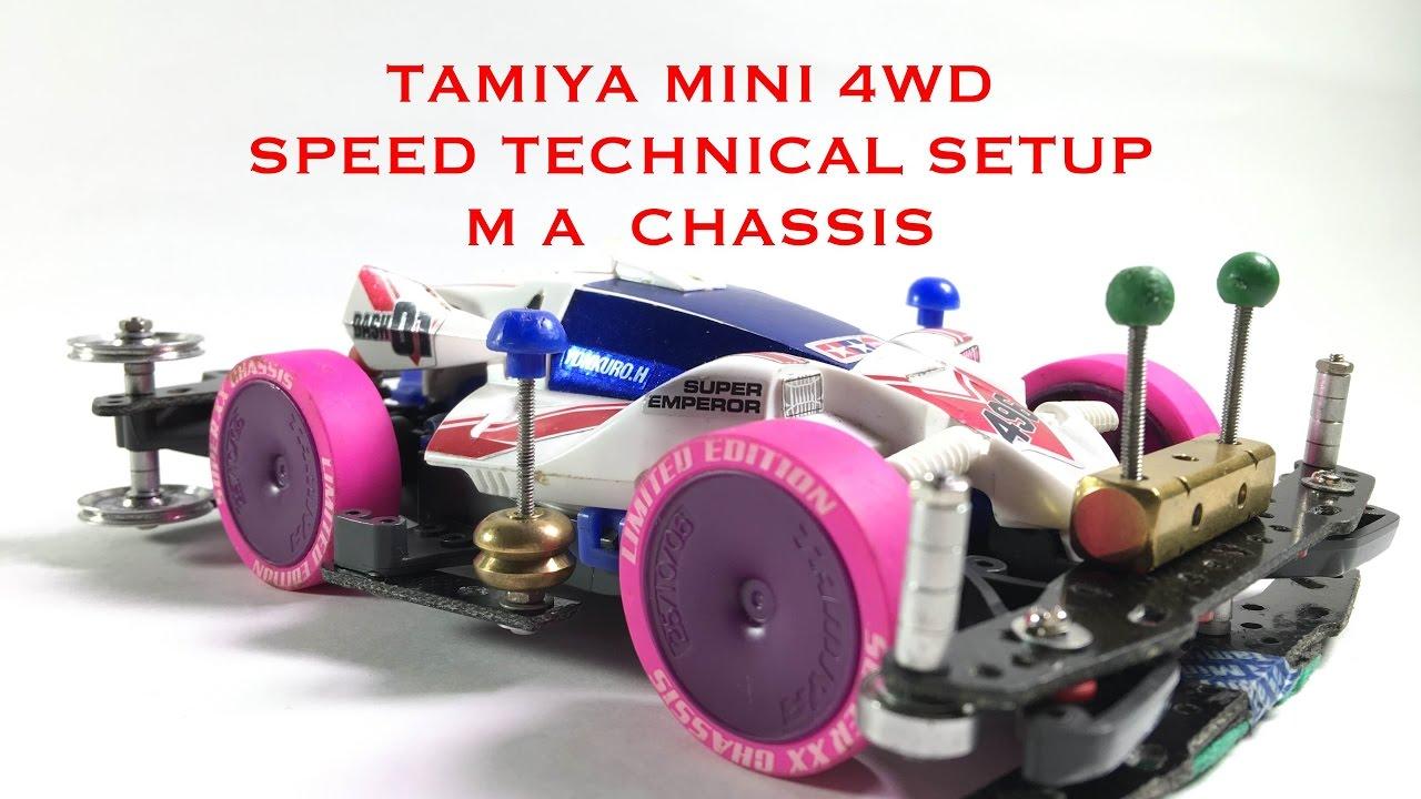 Tamiya Mini 4wd speed technical setup M A Chassis