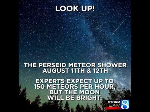 Perseid meteor shower infographic 081017