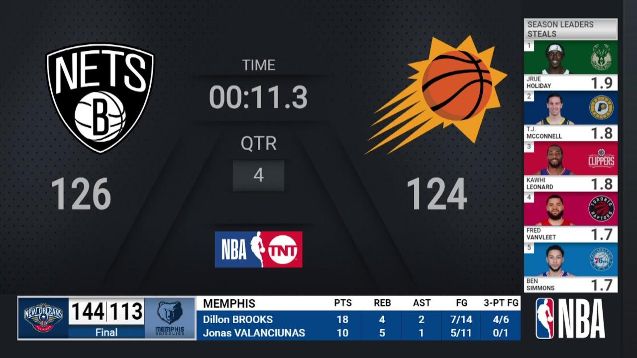 Nets @ Suns | NBA on TNT Live Scoreboard