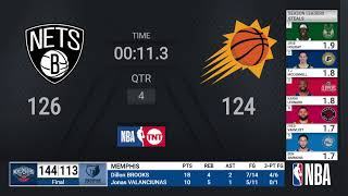 <b>Nets</b> @ Suns | NBA on TNT Live Scoreboard