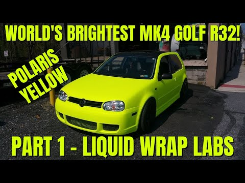homepage tile video photo for Making My 2004 VW R32 Fluorescent Polaris Yellow! (Plastidip Content) Part 1