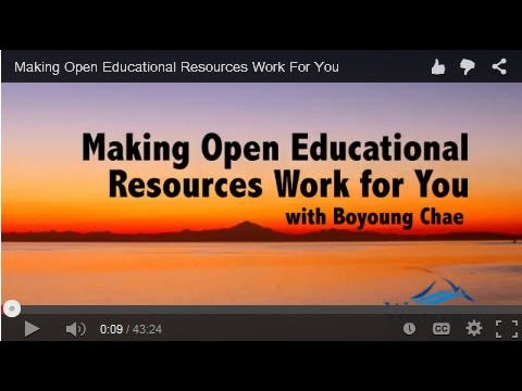 Making Open Educational Resources Work For You
